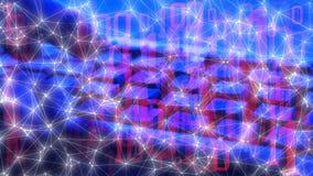 Cible d'attaque de Cyber, codage de la science, données numériques d'espionnage de cyber photographie stock