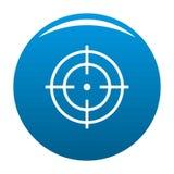Cible de bleu d'icône de sportif illustration libre de droits