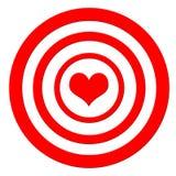 Cible de coeur Photographie stock