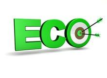Cible de concept d'écologie Photos libres de droits