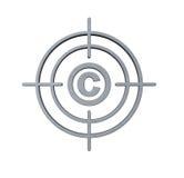 Cible de copyright illustration stock