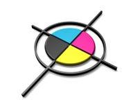 Cible de couleur de CMYK Photos stock