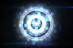 Cible de Digital au-dessus de conception de calcul Image libre de droits