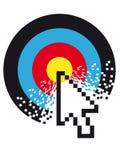 Cible de Digitals illustration stock