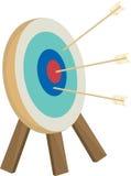 Cible de flèches d'illustration avec des flèches Images stock