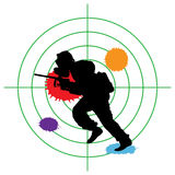 Cible de Paintball Images libres de droits