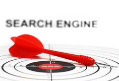 Cible de Search Engine Images libres de droits