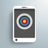 Cible de Smartphone Photo libre de droits