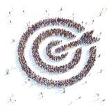 Cible de symbole illustration libre de droits