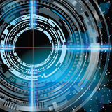 Cible de technologie de l'espace Image stock