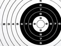 Cible de tir estampée noire et blanche Photos libres de droits