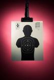Cible de tir sur un fond rouge photo libre de droits