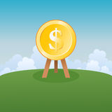 Cible du dollar Image stock