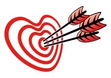 Cible et coeur illustration de vecteur