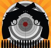 Cible et pistolets Image stock