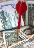 Cible financière (en couleurs) Images libres de droits