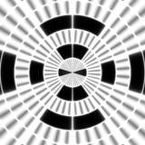 Cible Modèle noir et blanc régulier de rideau aligné en oeufs Illustration riche tramée de modèle Noir et wh abstraits de fractal Photographie stock libre de droits