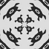 Cible Modèle noir et blanc régulier de rideau aligné en oeufs Illustration riche tramée de modèle Noir et wh abstraits de fractal Photos libres de droits