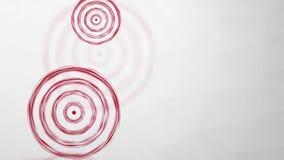 Cible rouge en baisse et tournante illustration de vecteur