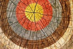 Cible sur l'arbre Photos libres de droits
