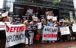 Cibles Chuck Schumer de rassemblement pour s'opposer à l'affaire de l'Iran d'Obama Image libre de droits