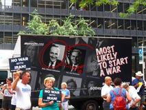 Cibles Chuck Schumer de rassemblement pour s'opposer à l'affaire de l'Iran d'Obama Photo stock