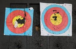 Cibles de tir ? l'arc images libres de droits