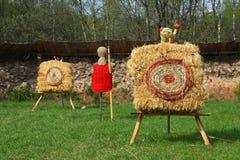 Cibles de tir à l'arc Photo libre de droits