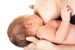 Cibo appena nato del bambino Fotografia Stock