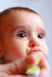 Cibo del bambino Fotografie Stock Libere da Diritti