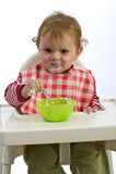 Cibo del bambino in giovane età Fotografie Stock