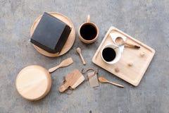 Cibo del concetto della prima colazione, disposizione del piano Fotografia Stock