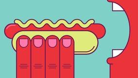 Cibo del hot dog Fotografia Stock Libera da Diritti