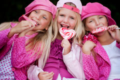 Cibo del lollipop Fotografia Stock