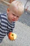 Cibo della mela Fotografie Stock Libere da Diritti