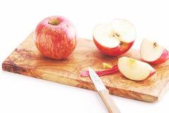 Cibo della mela sul tagliere immagini stock
