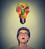 Cibo idea e del concetto sani di punte di dieta Fotografia Stock