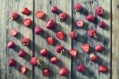 Cibo sano, fragola, fetta, bacca, essere a dieta e concetto vegetariano Prima colazione, immagini stock