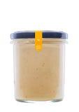 Cibo sano Minestra crema in una ciotola su priorità bassa bianca Fotografia Stock Libera da Diritti