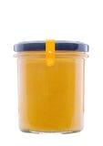 Cibo sano Minestra crema in una ciotola su priorità bassa bianca Fotografia Stock
