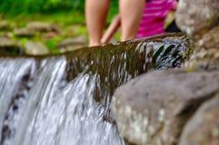 Cibodas-Wasser Stockfoto