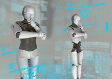 Ciborgs virtuales fotos de archivo