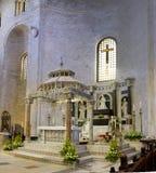 Ciborio San Nicola Church Bari Italy. Il ciborio della basilica di San Nicola da Bari, San Nicola di Smyrna, un sito di pellegrinaggio a Bari in Puglia, Italia Stock Photography