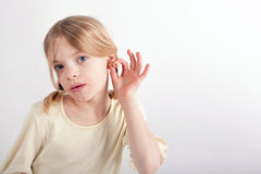 CIC hearing aid stock images