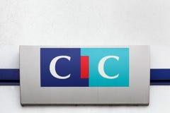 Cic-Logo auf einer Wand Stockfotografie