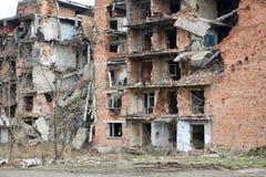 Cicatrices de guerre à Grozni, Chechn Image libre de droits