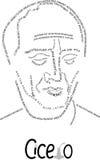 Cicero en stående av aforismer Arkivfoto