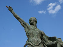 Cicerone half-length statue royalty free stock photos