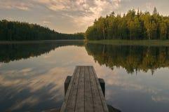 cicho jeziora Fotografia Royalty Free