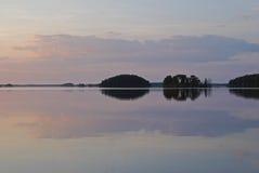 cicho jeziora Zdjęcia Royalty Free